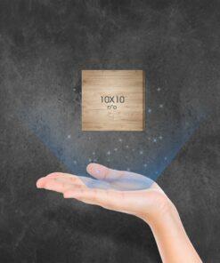 """בלוק עץ מרובע 10X10 ס""""מ"""