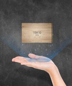"""בלוק עץ מלבני 15X10 ס""""מ"""