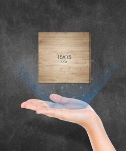 בלוק עץ מרובע 15X15 ס