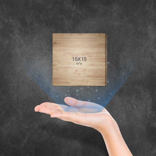 """בלוק עץ מרובע 15X15 ס""""מ"""