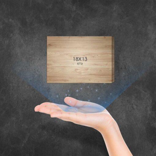 """בלוק עץ מלבני 18X13 ס""""מ"""