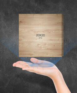 """בלוק עץ מרובע 20X20 ס""""מ"""