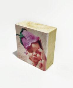 הדפסה על בלוק עץ 10X10 ס