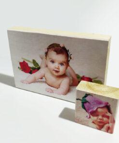 זוג הדפסה על בלוק עץ
