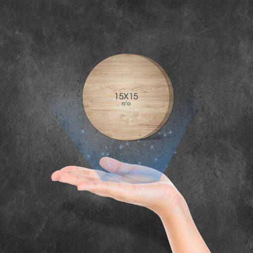 """בלוק עץ עיגול 15X15 ס""""מ"""