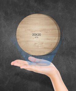 """בלוק עץ עיגול 20X20 ס""""מ"""