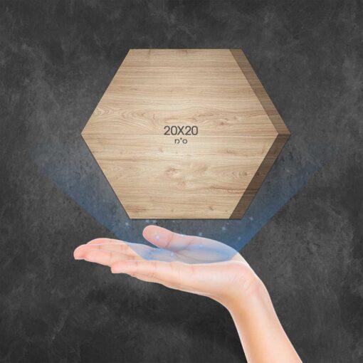 """בלוק עץ משושה 20X20 ס""""מ"""