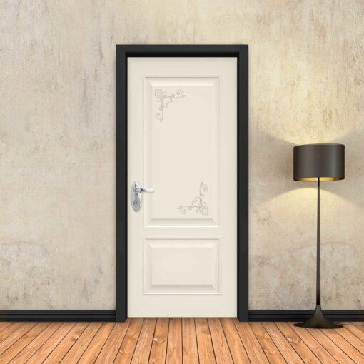 טפט לדלת שמנת מסגרות פרובאנס
