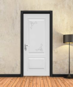 טפט לדלת לבן מסגרות פרובאנס