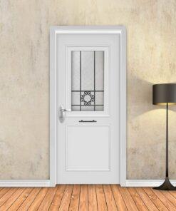 טפט לדלת לבן מסגרות מעוטר