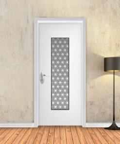 טפט לדלת לבן משרבייה