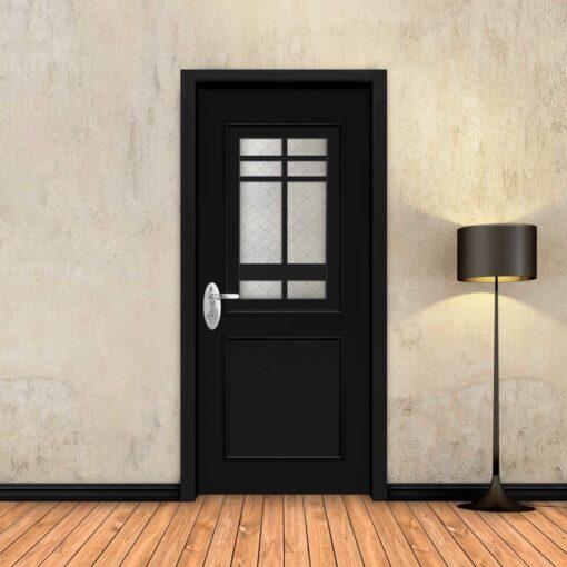 טפט לדלת שחור מסגרות מעוטר