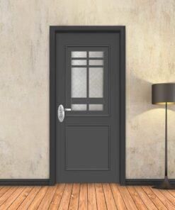 טפט לדלת אפור מסגרות מעוטר