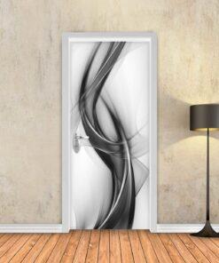 טפט לדלת מופשט שחור לבן