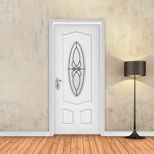 טפט לדלת לבן חלון עגול