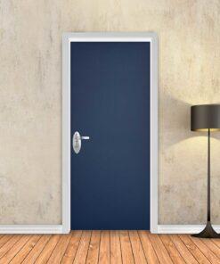 טפט לדלת כחול כהה חלק