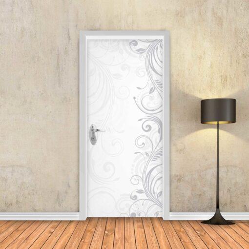 טפט לדלת גבעולים לבן