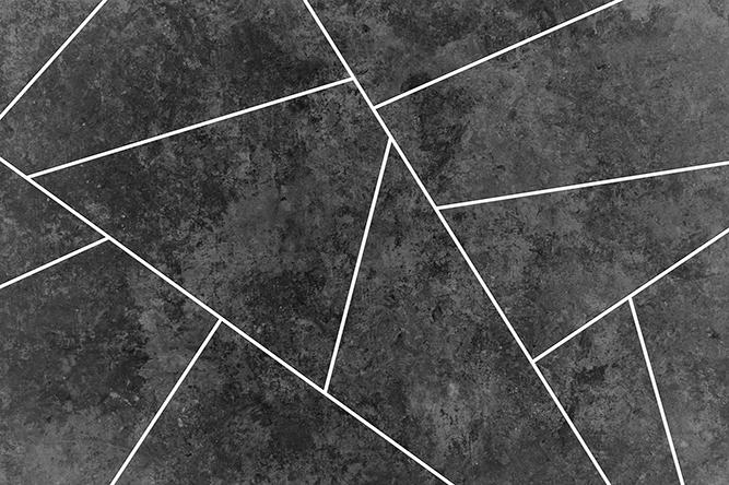טפט גאומטרי שחור לבן