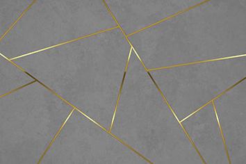 טפט גאומטרי אפור זהב