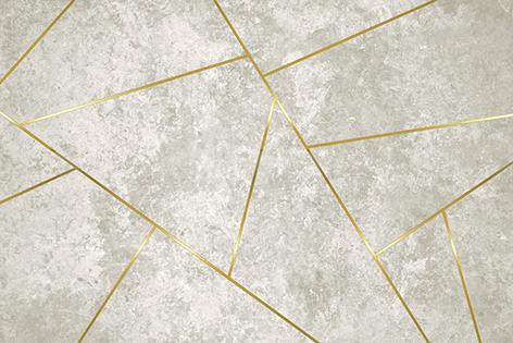 טפט גאומטרי קרם זהב