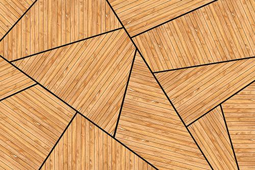 טפט גאומטרי עץ טבעי