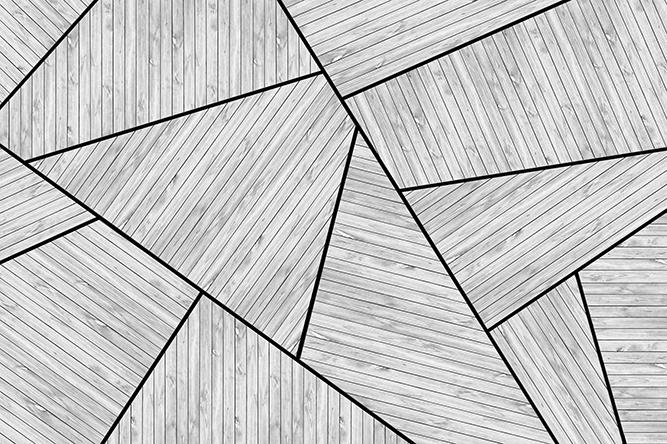 טפט גאומטרי עץ לבן
